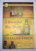 A Beautiful Blue Death 5-1/2x8 Paperback By Charles Finch 1st Charles Lenox