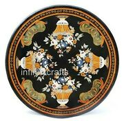 50 Inches Marble Dining Table Top Unique Design Inlaid Hallway Table For Home