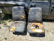 1968 1969 Mopar Dodge Charger Low Back Bucket Seats With Tracks Pair B Body