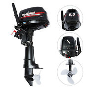 Hangkai 6hp 2stroke Outboard Motor Boat Engine With Water Cooling System 44cm
