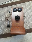 Antique Stromberg Carlson Wooden Wall Phone