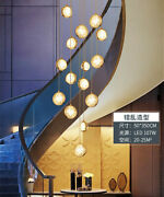 Crystal Glass Ball Pendant Ceiling Light Lamp Led Stairs Chandelier Decor Home