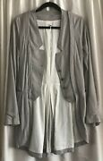 Rare Masnada Gray Leather Coat W Bronze Buttons And Other Unique Details Sz 6