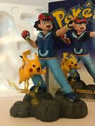 Pokemon Center 10th Anniversary Ash Pikachu Statue Limited Edition Flaw Repaired