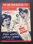 Jerry Lewis Autographed Sheet Music At War W The Army Signed In Person 1994