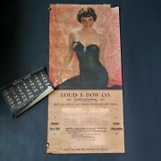 Vtg 1952 Andrew Loomis Pin Up Advertising Calendar Poster Louis F Dow Seattle