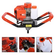 52cc 2-stroke Gasoline Gas One Man Post Hole Digger Earth Auger Machine