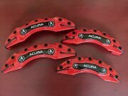 4pc Acura Caliper Covers And High-temp Silicone 3oz Tube - 16 Wheels And Above
