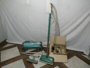 Vintage Automatic Electrolux Canister Vacuum Cleaner W/ Attachments- Works