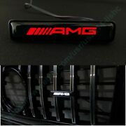 Mb G-wagon G63 G55 G500 W463 Abs Front Grille Badge Red Led Logo