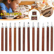 Small Wood Carving Tools Beginners Knives Set Stone Carpenter Carbon Steel