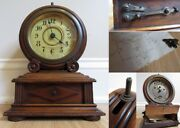 Antique Alarm Lamp Clock Battery And Wind 1800and039s Light Unicorn Of Antique Clocks