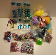 Huge Lot Rainbow Loom Rubber Band Bracelet Kit With Extras 4 Looms