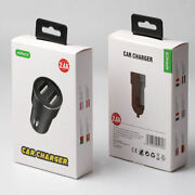 100 X Dual Usb 2.4a Car Charger For Iphone Ipad Android Bulk Deal