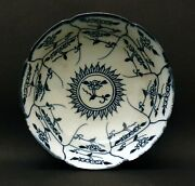 Blue And White Flowers Chinese Plate Sign