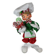 Annalee Dolls 2021 Christmas 9in Christmas Candy Elf Plush New With Tag