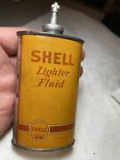 Scares Shell Lubricant Lighter Fluid 3 Oz Can Household Oil Tin Lead Top