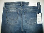 Silver Jeans Avery Slim Curvy High Rise Jeans Women's 31x29 Nwt