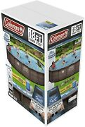"""Coleman 18' X 48"""" Power Steel Frame Deluxe Round Above Ground Swimming Pool Pump"""