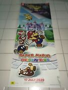 Paper Mario The Origami King 2020 Mint Orig Aust Ds 6 Feet 10 3/4 Games Banner