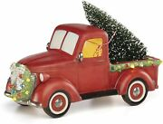 Lenox Light-up And Musical Truck Centerpiece, 5.90 Lb, Red