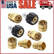 Twinkle Star Pressure Washer Adapter Set Quick Disconnect Kit Set Of 8