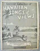 Very Old Souvenir Collection Of Hawaiian Songs And Views Music Book Ernest K Kaiandnbsp