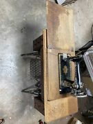 Singer Treadle Sewing Machine With Cabinet Model 1921