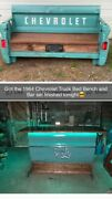 Rustic Truck Tailgate Bench And Bar. One Of A Kind Set