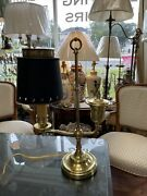Small Antique Student Solid Brass Desk Lamp