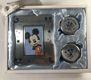 Disney Baby Mickey Mouse Metal Frame And Keepsake Boxes New