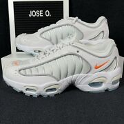 Nike Air Max Tailwind 4 Gs Total Orange Kids 7y Womens Shoes Size 8.5 White New
