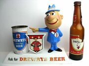 50and039s Drewrys Big D Display Beer Toy Vintage Rare With Bottle Bin Can From Japan