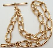 Antique 9ct Rose Gold Albert 13.5 Inch Pocket Watch Guard Chain Weighs 45.3 Gms