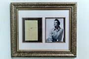 Katharine Hepburn Drawn Caricature By Her On Yellow Notepad Rare Framed