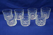 Waterford Lismore 7 Old Fashioned Glasses 3 1/4