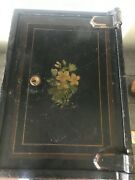 Antique Steel Very Heavy Strong Box Safe Iron