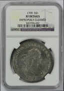 1799 Bust Dollar Ngc Graded Xf Details Improperly Cleaned Nice Coin
