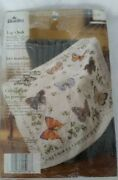 Bucilla Butterfly Collection Lap Quilt Or Wall Hanging Stamped Cross Stitch