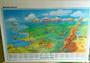New World Geography Terms Pull-down Classroom Map Grade 3 4 5 6 7 8 9+ Rand