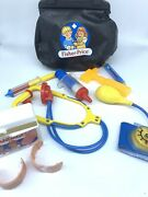 Vintage 1987 Fisher Price Toy Doctor Nurse Bag Medical Kit And Accessories