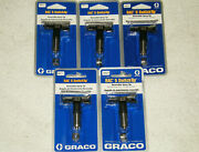 Lot Of 5 Graco Paint Sprayer Rac 5 Reversible Switch Tips 315 415 515 613 615