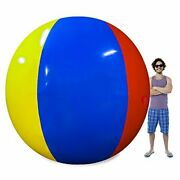 12 Foot Pole-to-pole - Giant Inflatable Ball -family Fun For Swimming Pool Party