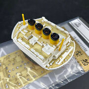 For Mini Moe-001 Titanic Royal Cruise Q Edition Model Assembly Kits Wooden Deck