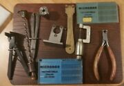 Antique Vintage Watchmakers Spiral Hand Drill And Other Related Antique Tools