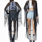 Unif Wiccan Kimono / Xs / Nwot / Rare Dolls Kill Sheer Witch Goth