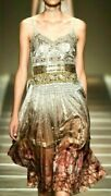 Iconic Etro Embroidered Embellished Lace Floral Silk Runway Dress Us 8 10 It 44
