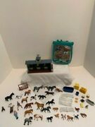 Breyer Mini Whinnies Bluegrass Stable Playset Lot 52 Pieces Some New Horse Pony