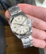 Vintage Rolex Oysterdate Precision 6694 Vintage Manual Wind Silver Dial Watch