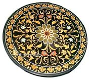 48 Inch Marble Dining Table Top Inlay Floral Design Royal Look Floor Highlighter